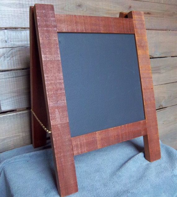 Rustic Light Industrial Chandelier Rope Pulley Yoke Wood Metal: Chalkboard Sign Frame Easel Rustic Wood Mahogany