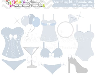 INSTANT DOWNLOAD,  bachelorette party clipart - bridal shower clip art - lingerie image - commercial use - card making -