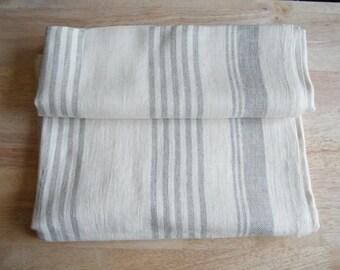 2 elegantes Natural Sábanas Toallas de baño, ropa de cama de lino puro - Grandes toallas de baño, grisáceo y gris