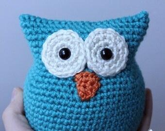 PATTERN Instant Download O-SO-CUTE Owl Crochet Amigurumi doll