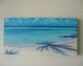 Original 10x20 Ocean Painting on Canvas by J. Mandrick