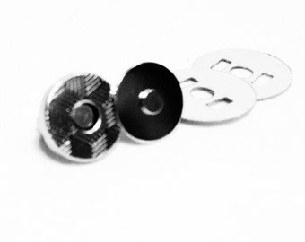 Magnetic Snaps 150 sets 10mm 2 mm nickel Extra Thin
