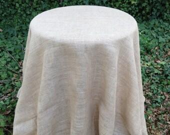 "90"" Round Burlap Table Skirt"