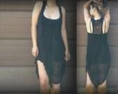 Shredded Black Dress