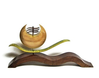 Wood Sculpture Oriental Collection - Hand Dyed Wood Art by Akita Wood Works
