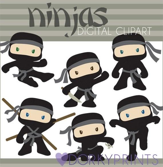 Cute Ninja Clip Art Ninja digital clip art set