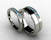 Luxurious Mens Engagement Diamond Ring Center 05ct Round