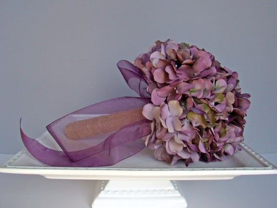 items similar to hydrangea bridal bouquet purple. Black Bedroom Furniture Sets. Home Design Ideas