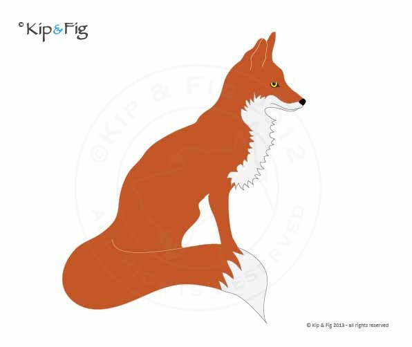 Fox Applique Template Pdf Applique Pattern By Kipandfig On
