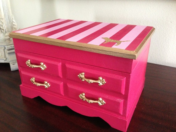 vintage musical jewelry box upcycled to victoria 39 s secret