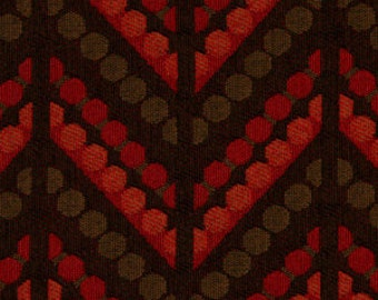 ON SALE - Red Chevron Upholstery Fabric