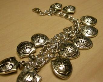 Wizard's Shield Bracelet of Protection - (Silver) - By KingdomoftheGeek