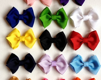 Set of Ten Baby Bows - YOU CHOOSE the Colors - Infant Bows - Newborn Bows