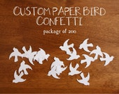 Custom Paper Bird Confetti