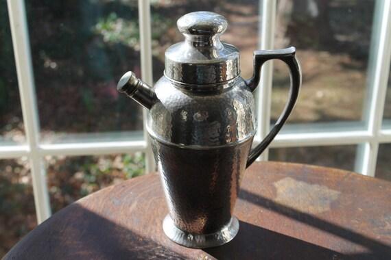 Vintage Cocktail Shaker, Bernard Rice's Sons Inc. Apollo Silver Plate Shaker