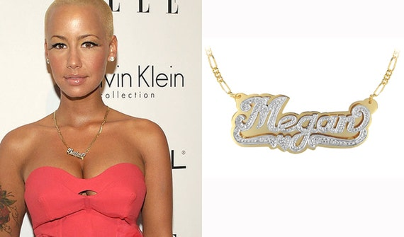 24 Best Celebrity Name Necklace images | Name necklace ...