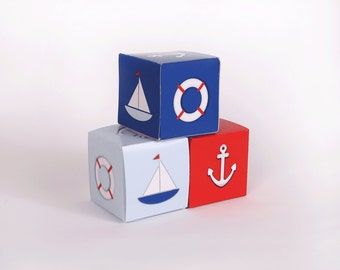 Nautical Favor Boxes, 4th of July Favors, Nautical 4th of July Party Favor Boxes, Nautical Party Favors, Nautical  Anchor Favors