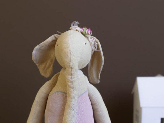 Stuff Elephant - Cotton Stuffed Toy - Woodland Nursery - Forest Animals - Soft Toys
