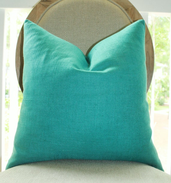 Throw Pillow Turquoise : Decorative Turquoise Blue Pillow Teal Green Pillow Cover