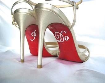 Wedding Shoes, I Do Stickers, I Do Shoe Sticker, Something Blue, I Do Shoe Decal, I Do Stickers for Shoes, Bride Gift, Bridal Shower Gift