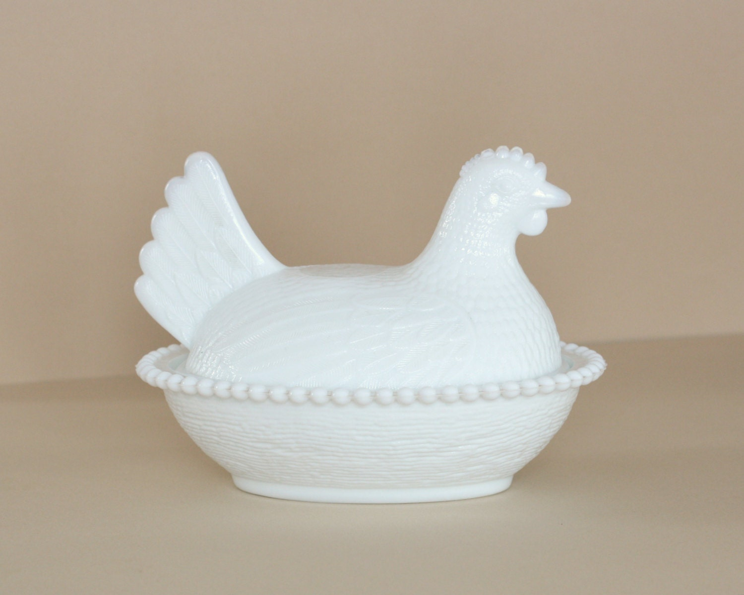 Milk Glass Hen On Nest Covered Dish Indiana Glass Company