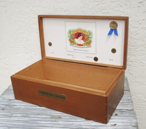 Large cigar box vintage cuesta rey cigar ambassador cabinet 120