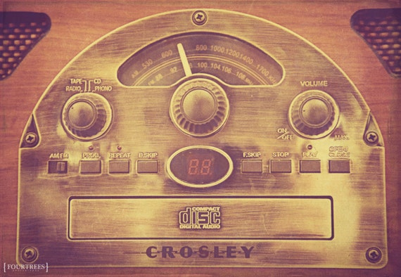Items similar to crosley love 8x12 vintage record player for Retro house music