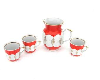Milk Jug Juice Jug Coffee Mug Large Coffee Cup Tea Cup Set Soviet Vintage Kitchen Drinkware