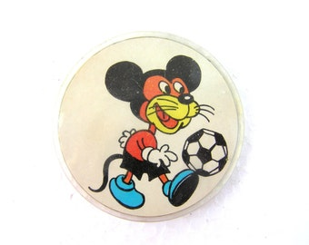 Soviet vintage Mickey Mouse pin Mickey Mouse pinback button Mouse pin Bag brooch