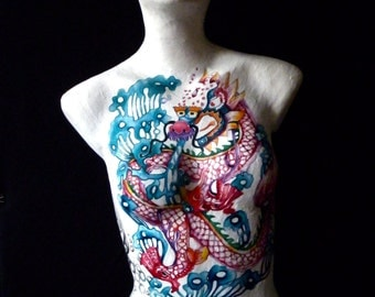 Decoupage / Paper mache Dragon Mannequin