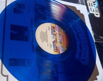 WOW !!!!!!  Colored Vinyl with Poster Vintage The Deep Blue Vinyl Record Album LP with Poster