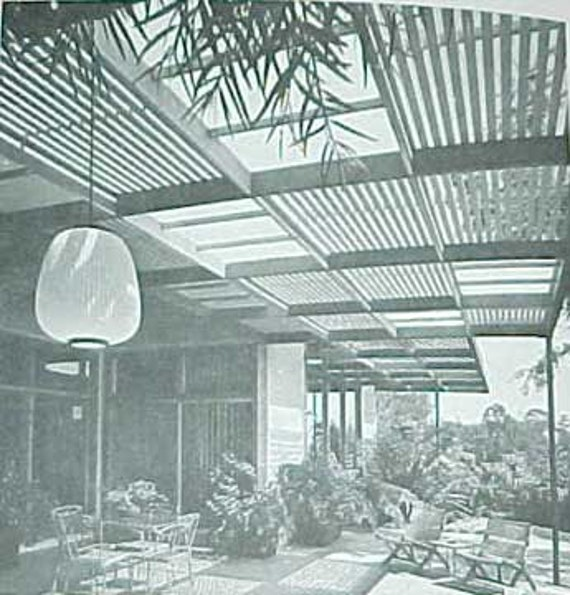 1974 How to Build PATIO ROOFS mid century modern landscape