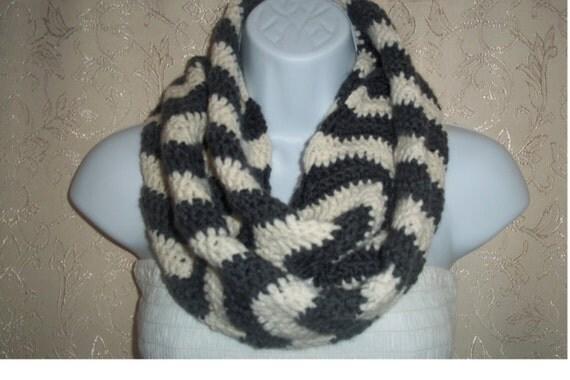 Crochet Zig Zag Scarf : scarf zigzag scarf crochet scarf zig zag scarf circle scarf loop scarf ...