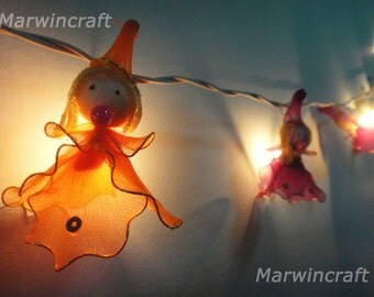 20 Fantasy Witch Cute Art Multi Colour Fairy Lights String 10 FEET or 3 Metres Long  Party Patio Wedding  Floor Table or Hanging Gift