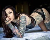 LACE - Gogo Blackwater print