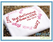 907 Hope Faith Love Valentine's Day applique design in digital format for embroidery machine by Applique Corner
