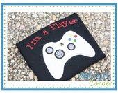 382 I'm a Player Valentine's Day applique design in digital format for embroidery machine by Applique Corner