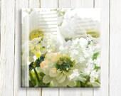 Floral art on canvas - wedding gift idea
