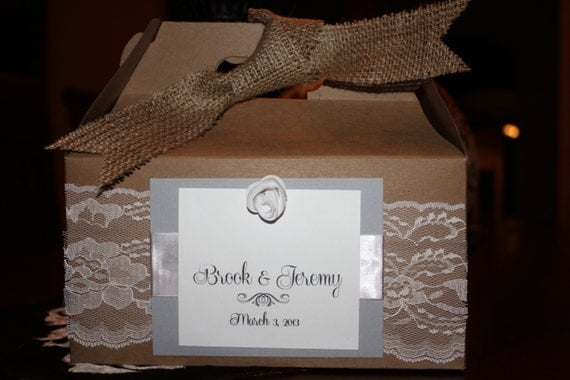 Wedding Gift Boxes: Items Similar To Wedding Guest Gift Box On Etsy