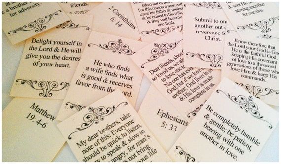 48 Christian LOVE and RELATIONSHIPS Scripture Cards -   Valentines, Engagement, Wedding, Anniversary Gift