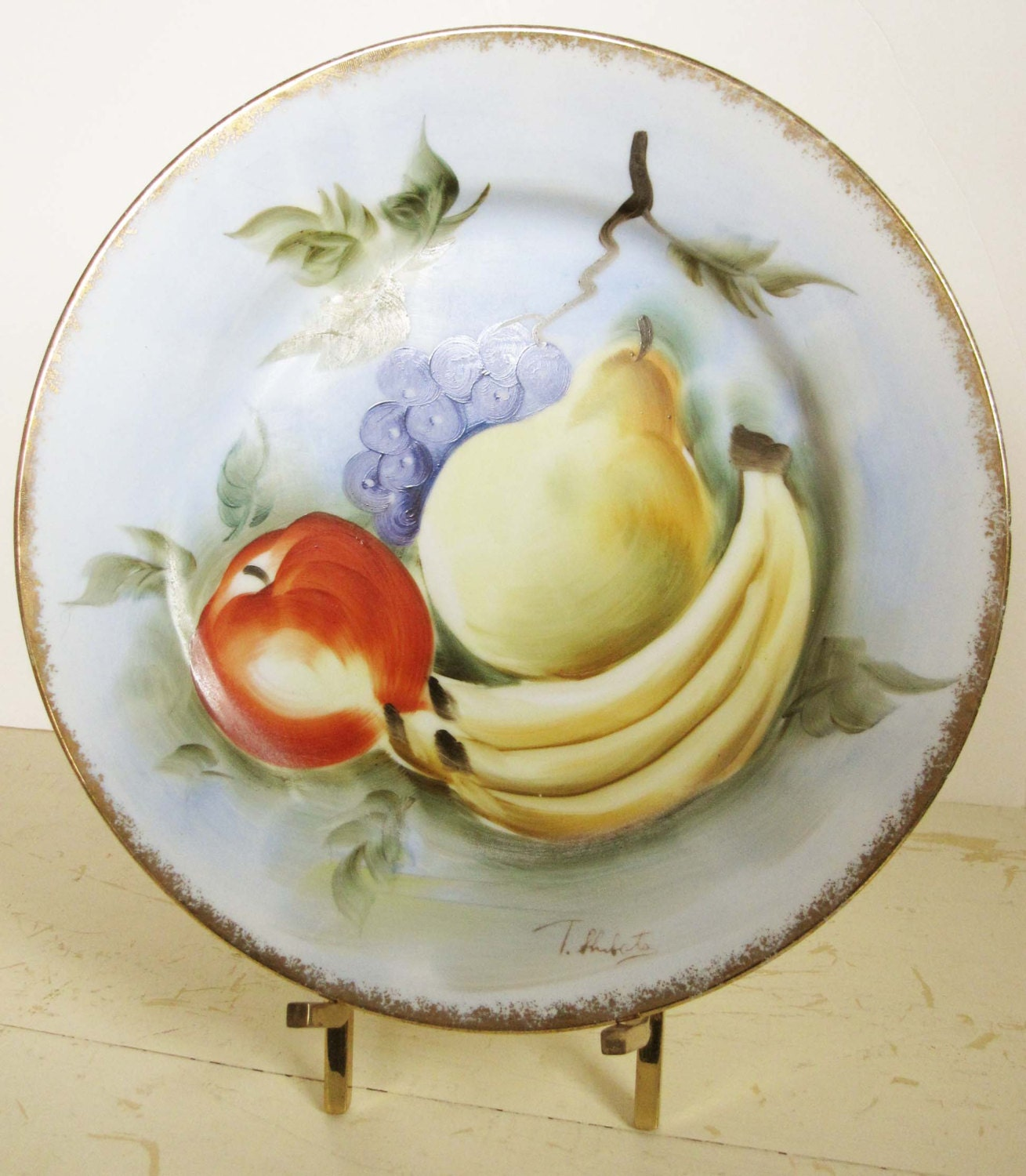 Hand-painted T. Shibata Vintage Porcelain Serving by ZulasHouse