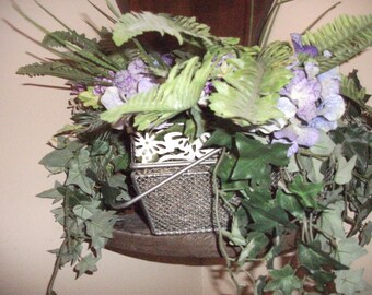 Silk fern hydrangea with handles