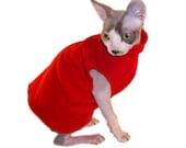 Cat Shirt Red Turtleneck