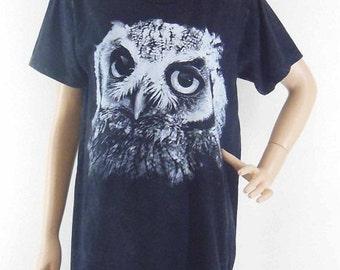 Owl Tshirt Owl Shirt Bleach tumblr tees cute shirt funny tshirt teenage shirt(Unisex T-shirt) Men T Shirts Women T Shirt Screen Print Size M