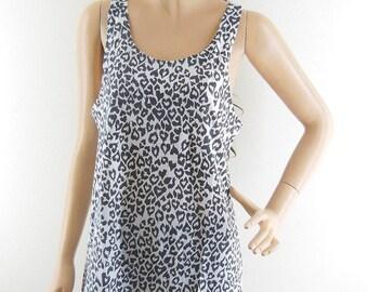 Leopard shirt tiger shirt heart shirt tumblr tshirt cutr top women tops tumblr graphic shirt women tank top women tee teen shirt Size M