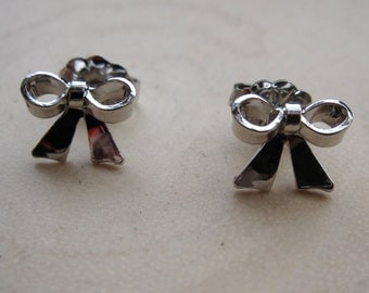 Petite Sterling Silver Bow Post Earrings