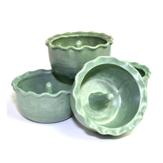 Sale Baked Apple Bowl Set Ceramic Baking Dishes Handmade