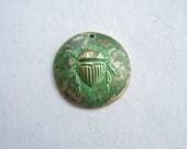 Bronze pendant, scarab pendant, verdigris pendant, bronze components