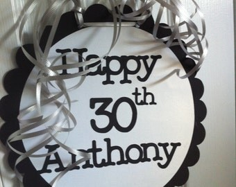 30th Birthday Decorations Giant Personalized Party Signs