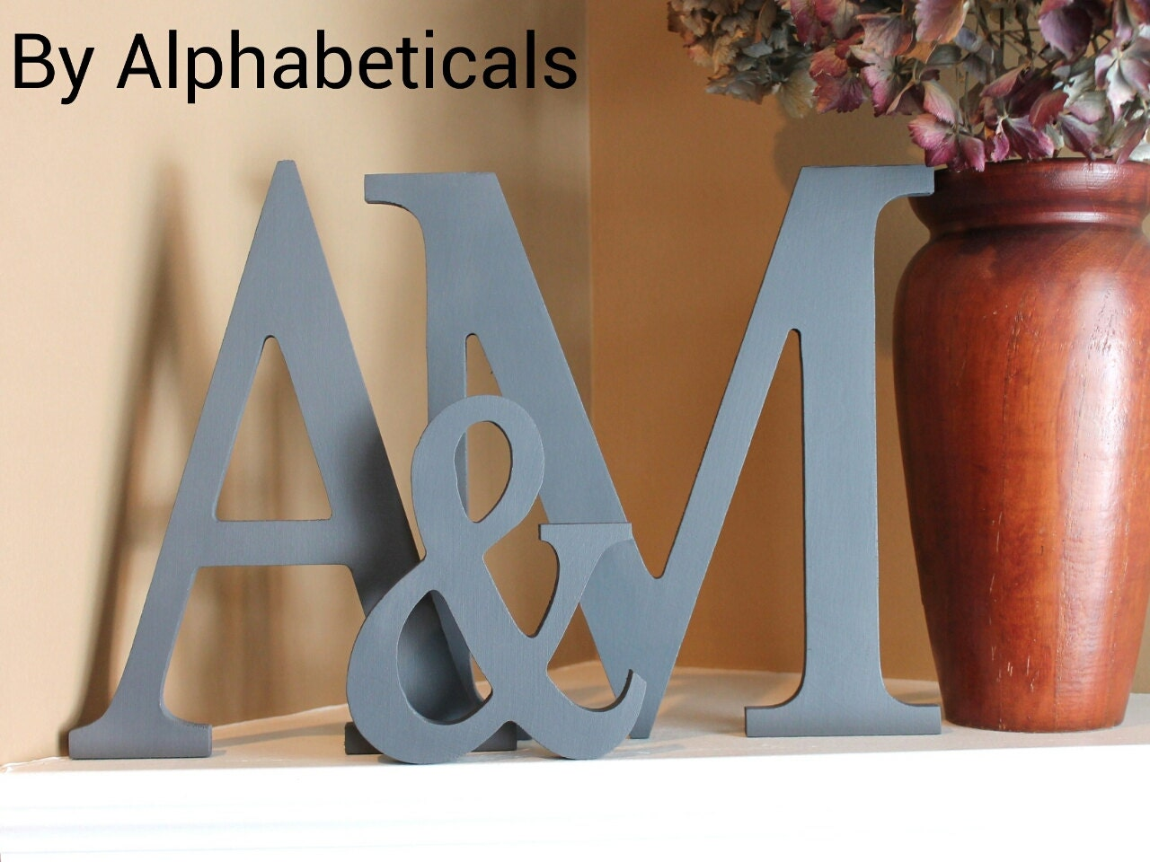 large decorative letters in color
